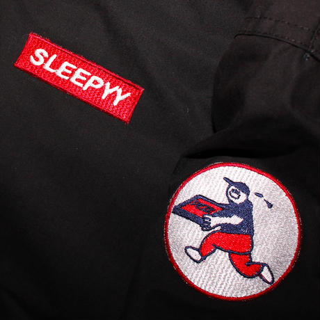 SLEEPYY PIZZA DELIVERY JACKET BLACK