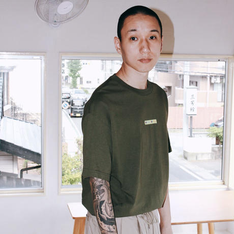 THANK YOU TAPE S/S TEE OLIVE
