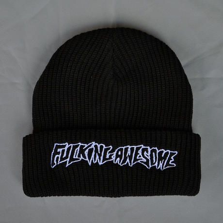 Fucking Awesome Outline Logo Beanie - Black