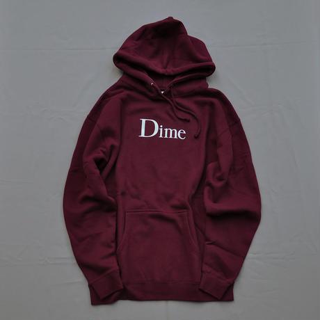 Dime Classic Logo Hoodie - Burgundy