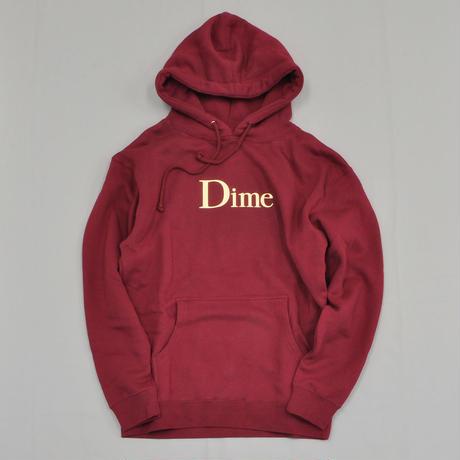 Dime Classic Logo Hoodie - Burgundy/Cream