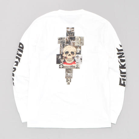 Fucking Awesome KB Collage Longsleeve Tee - White
