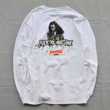 Fucking Awesome x Thrasher Trash Me Longsleeve Tee - White