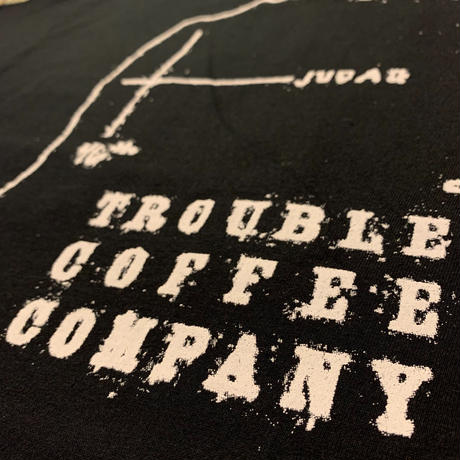 TROUBLE COFFEE CO.  6.1oz Heavy Weight Cotton  Pocket T-shirt