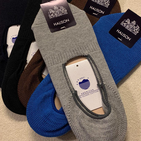 "HALION ""American Sea Island Cotton"" Boat Socks"