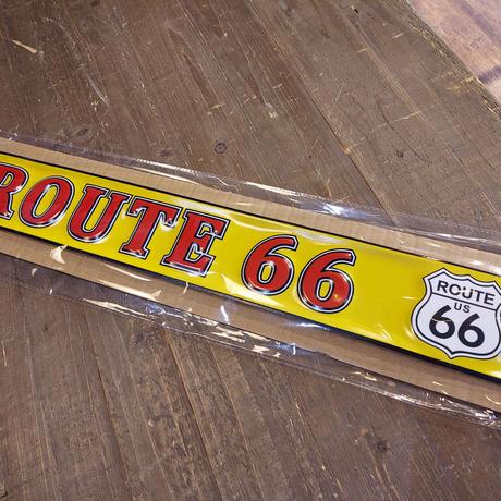 エンボスメタルサイン ROUTE 66 RED