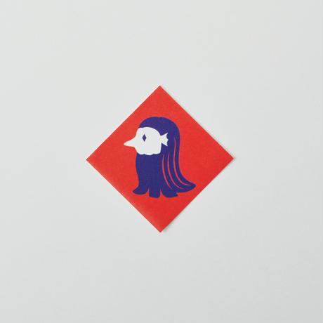 印染 布マスク『未』柄 Mサイズ /7951