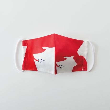 印染 布マスク『丑』柄 Mサイズ /7926