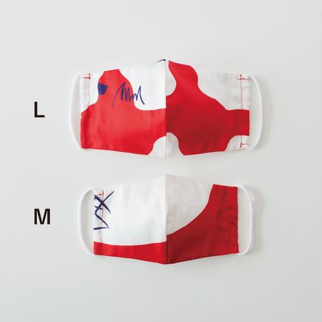 印染 布マスク『申』一匹 Lサイズ /7935