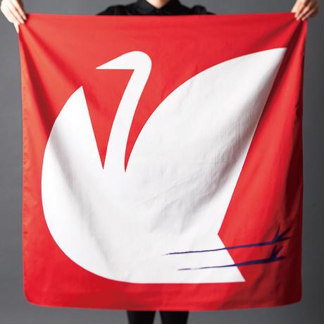 印染 布マスク『鶴』一匹 Lサイズ /7947