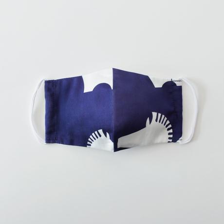 印染 布マスク『午』柄 Mサイズ /7916