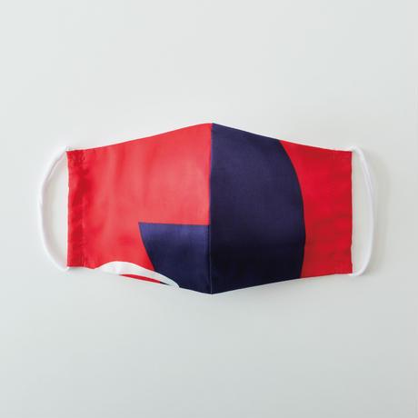 印染 布マスク『巳』一匹 Lサイズ /7944