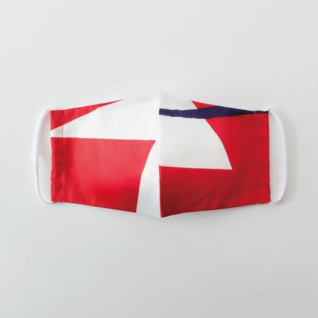 印染 布マスク『鶴』一匹 Lサイズ /7946