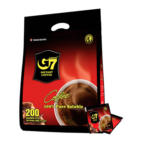 G7 Pure Black instant coffee(Bag 200 sachets) ブラック200個入