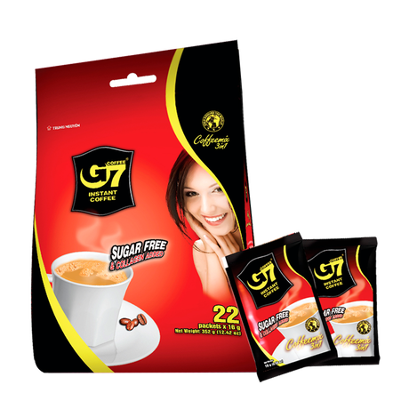 G7 Collagen & Sugar Free(Bag 22 sachets) カフェ・オ・レタイプ シュガーレス&コラーゲン入 22個入