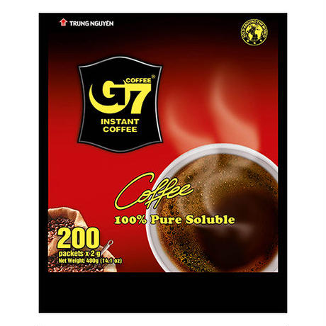 G7 Pure Black instant coffee(Bag 200 sachets)