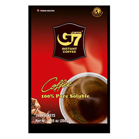G7 Pure Black instant coffee(Bag 100 sachets) ブラック100個入