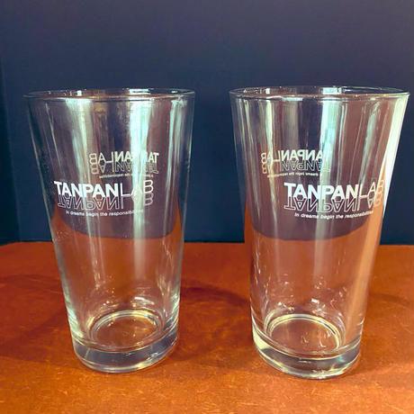TANPAN LAB(1パイント)オリジナルグラス 2個 & レザーコースター2個セット