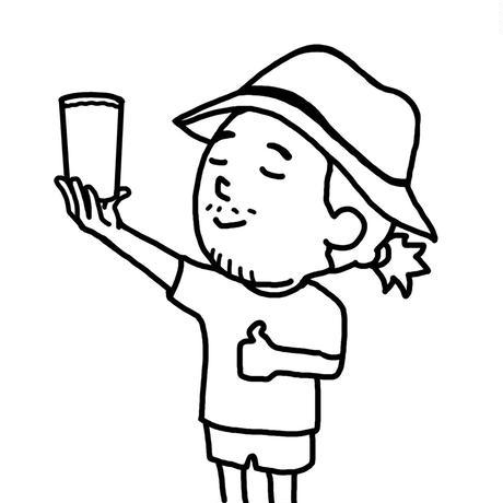 短パンちゃんオリジナルグラス イラスト バイ しみを (単品)