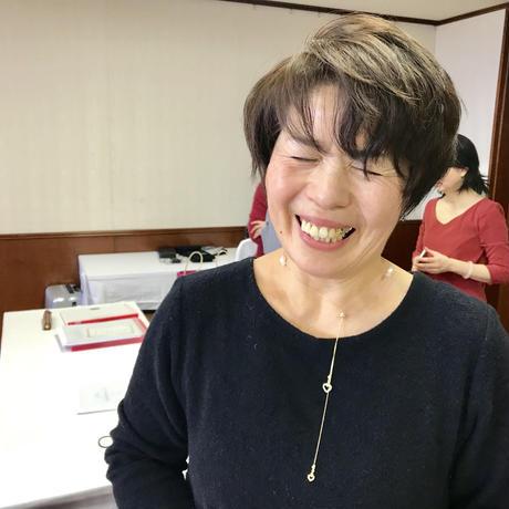 【完売】春爛漫のチェリーブロッサム ネックレス(淡水パール)