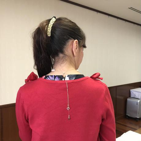 【完売】愛あふれるハート満開の両思いネックレス(インカローズ)