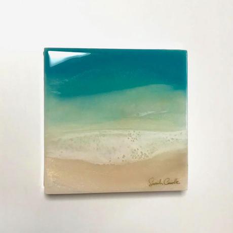 【Sarah Caudleアート】Turquoise Dream 6(原画)直筆サイン入り