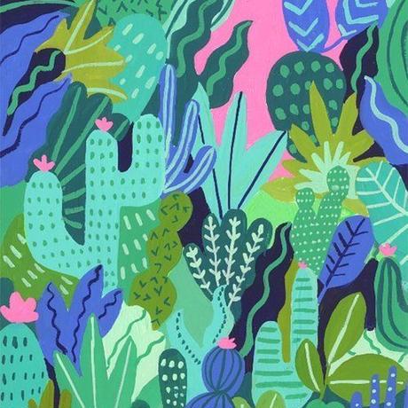 【Kim Sielbeck キム・シルベック】デジタルプリントアート Summer Garden II  11×14