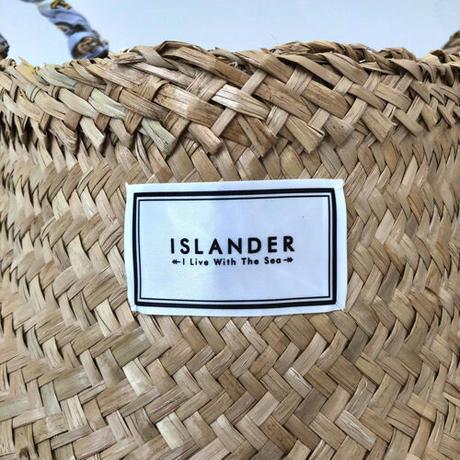 ISLANDER シーグラスバスケット/カゴバッグ(レモン)