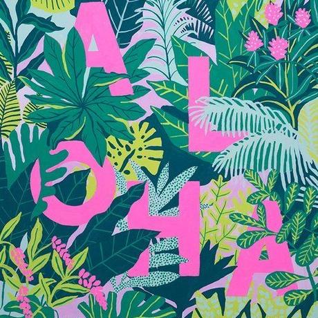 【Kim Sielbeck キム・シルベック】デジタルプリントアート Planet Aloha  11×14