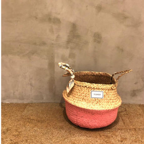ISLANDER シーグラスバスケット/カゴバッグ(ピンク)