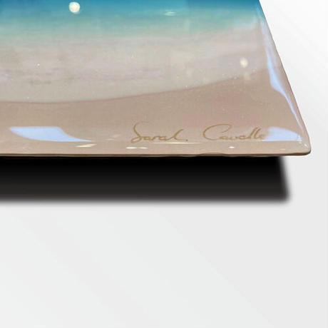 【Sarah Caudle / サラカードル】Waikiki Beach《Open Edition Resin Prints on Metal》12×16inch