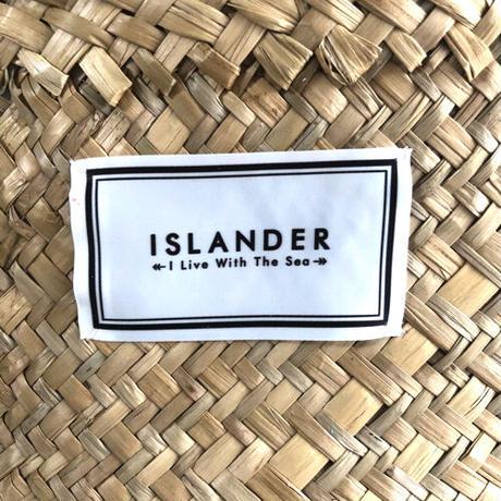 ISLANDER シーグラスバスケット/カゴバッグ(ホワイト)
