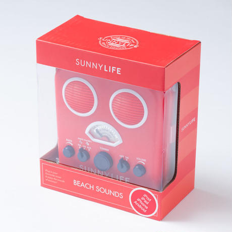 SUNNYLIFE(サニーライフ)BEACH SOUNDS/ビーチステレオスピーカー/Red