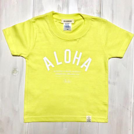 ISLANDER/アイランダー 『 ALOHA 』 キッズTシャツ/イエロー