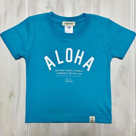 ISLANDER/アイランダー 『 ALOHA 』 キッズTシャツ/アクアブルー