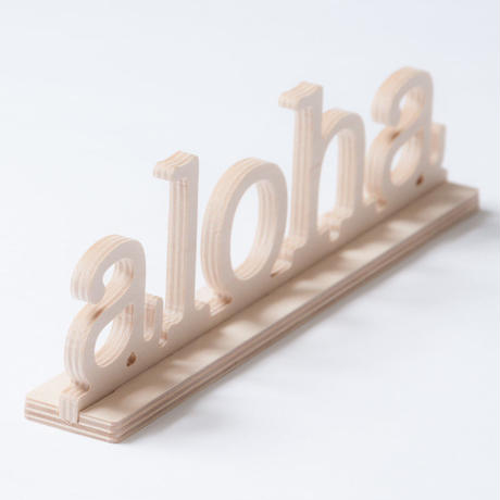 SoHa LIVING/Aloha Natural Birch Plaque  メッセージロゴウッドスタンド/M