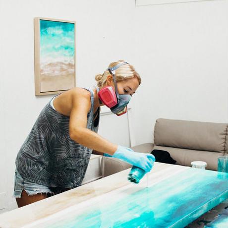 【Sarah Caudle / サラカードル】Waimea Bay《Matted Prints》Mサイズ