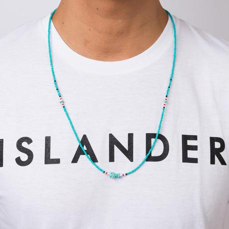 ISLANDER(アイランダー)3WAYネイティブロングビーズネックレス/アンクレット/ブレスレット(ターコイズ)