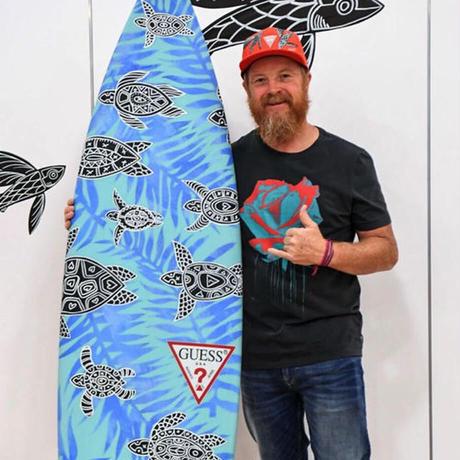 【Eduardo Bolioli エドゥアルド・ボリオリ】マットプリントアート 『Life On Board』11×14(直筆サイン入り)