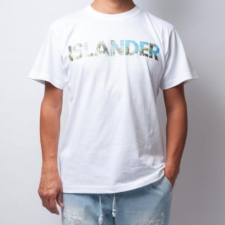 ISLANDER/アイランダー PALM TREE PHOTO Tシャツ/ホワイト