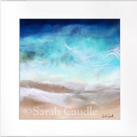【Sarah Caudleアート】Wild Blue(正方形)