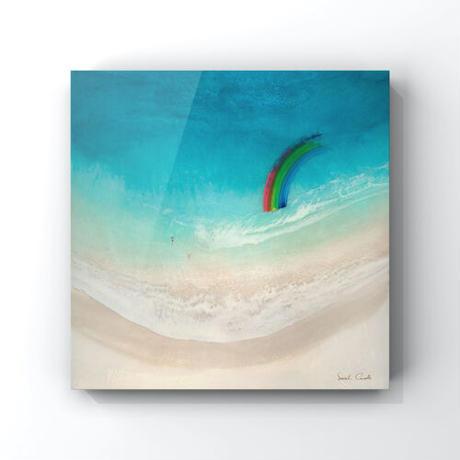 【Sarah Caudle / サラカードル】Aloha《Open Edition Resin Prints on Metal》36×36inch