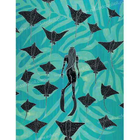 【Eduardo Bolioli エドゥアルド・ボリオリ】マットプリントアート 『Quiet Flight』11×14(直筆サイン入り)
