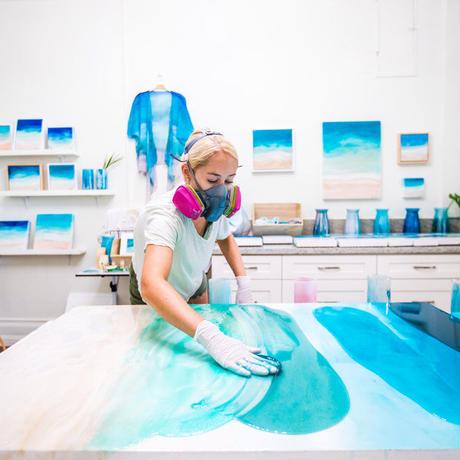 【Sarah Caudle / サラカードル】Hala Kahiki《Matted Prints》Mサイズ