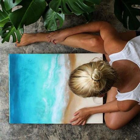 【Sarah Caudleアート】Sea side(Lサイズ)