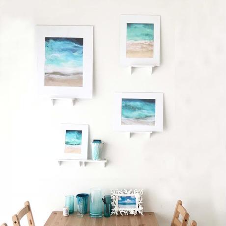 【Sarah Caudle / サラカードル】Lanikai Beach《Matted Prints》Mサイズ