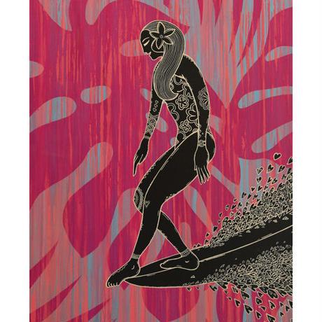 【Eduardo Bolioli エドゥアルド・ボリオリ】マットプリントアート 『Queen of Makaha』11×14(直筆サイン入り)