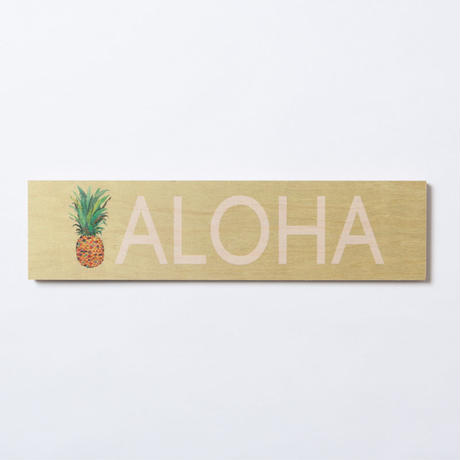 SoHa LIVING/Aloha Pineapple Wood Sigh  メッセージロゴプレート看板