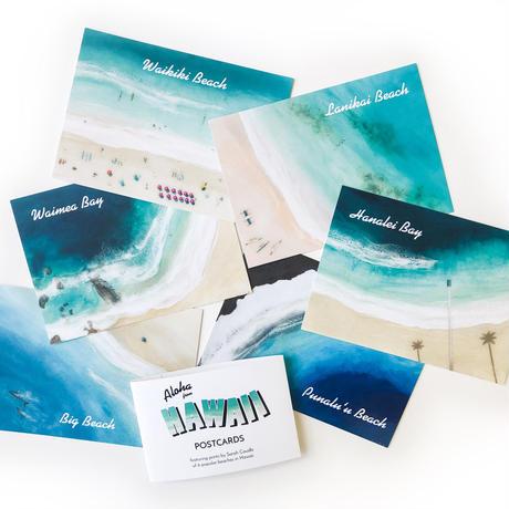 "【Sarah Caudle / サラカードル】""Aloha from Hawaii"" Postcards 6枚セット"