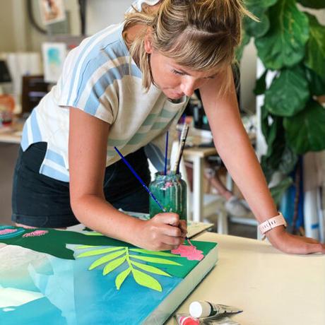限定コラボ【Sarah Caudle × Kim Sielbeck】Beach Jungle《Matted Prints》Mサイズ